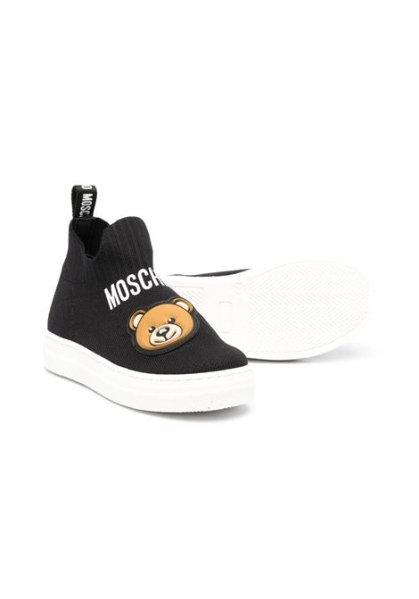 SOCK SNEAKERS WITH BEAR MOSCHINO KIDS | 675054