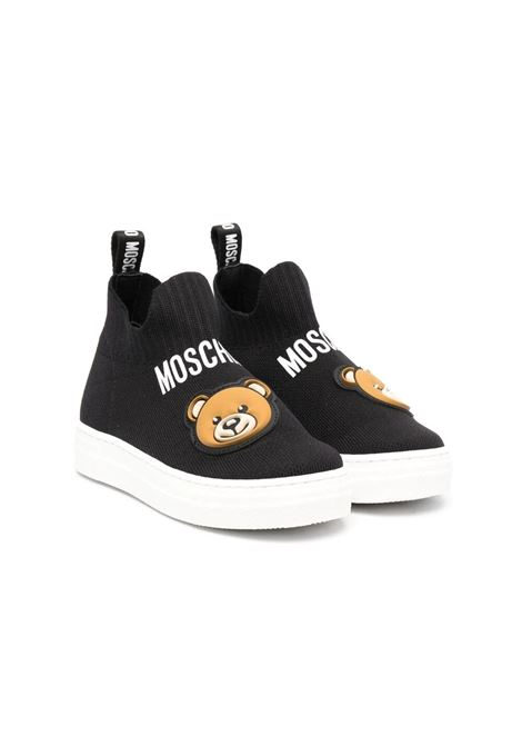 SOCK SNEAKERS WITH BEAR MOSCHINO KIDS | Sneakers | 67505T1