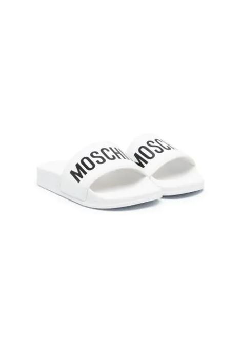 SLIPPERS WITH MOSCHINO PRINT MOSCHINO KIDS | Slippers | 675261