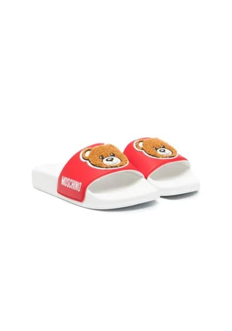 RED SLIPPERS WITH BEAR MOSCHINO KIDS | Slippers | 67527T1