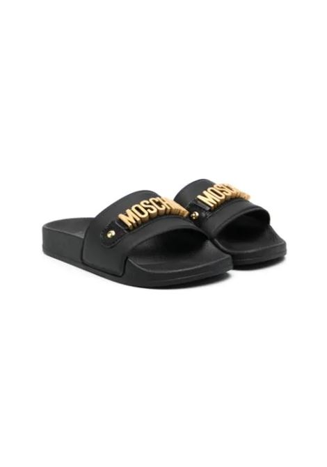 SLIPPERS WITH LETTER LOGO MOSCHINO KIDS | Slippers | 675331