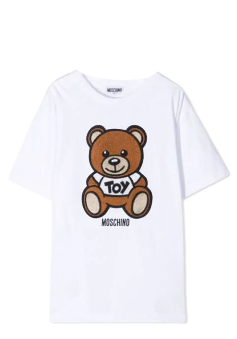 T-SHIRT WITH SEWN BEAR MOSCHINO KIDS | T-shirt | H0M02X LBA1010101