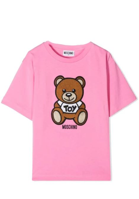 T-SHIRT WITH SEWN BEAR MOSCHINO KIDS | T-shirt | H0M02X LBA1050243