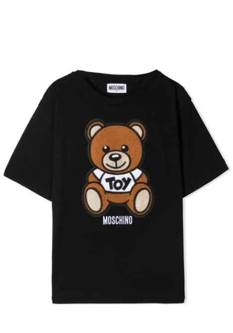 T-SHIRT WITH SEWN BEAR MOSCHINO KIDS | T-shirt | H0M02X LBA1060100