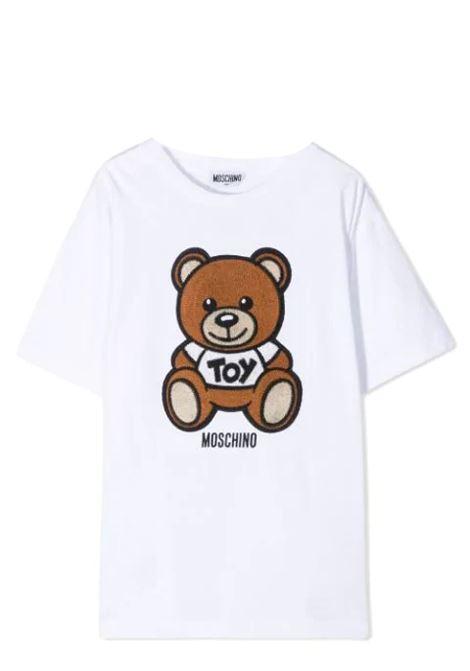 T-SHIRT WITH SEWN BEAR MOSCHINO KIDS | T-shirt | H0M02X LBA10T10101
