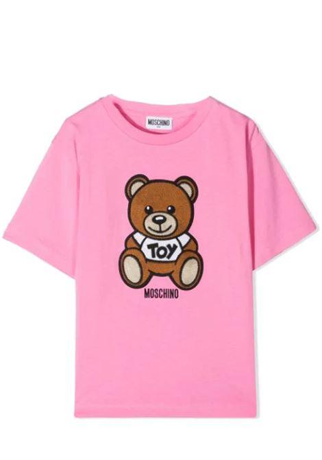 T-SHIRT WITH SEWN BEAR MOSCHINO KIDS | T-shirt | H0M02X LBA10T50243