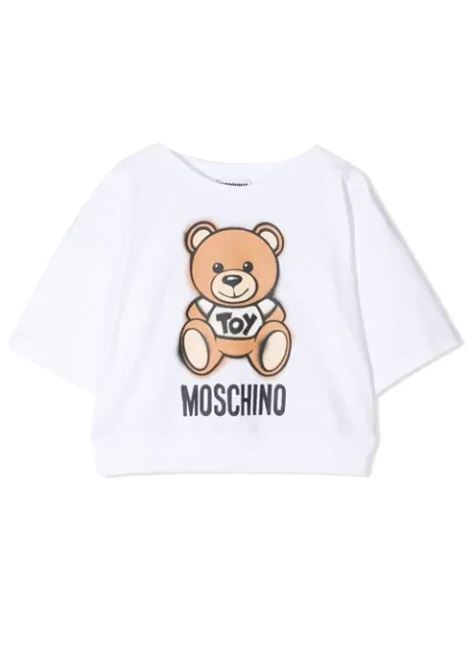 T-SHIRT WITH TEDDY  BEAR PRINT MOSCHINO KIDS | T-shirt | HDM03X LBA1810101