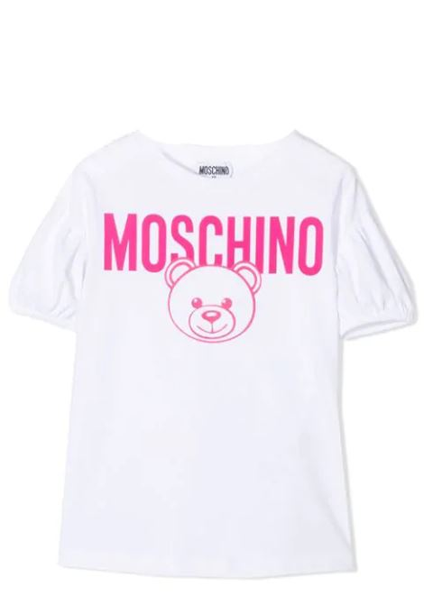 T-SHIRT WITH LOGO MOSCHINO KIDS | T-shirt | HDM03Y LBA00T10101