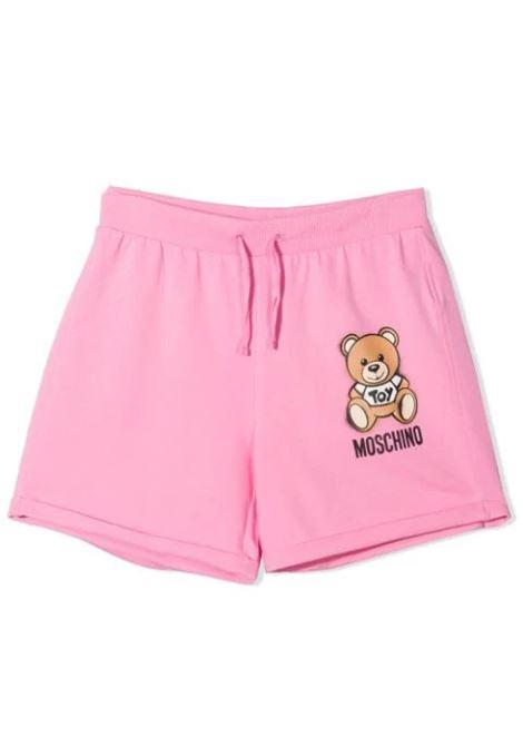 SHORTS CON STAMPA MOSCHINO KIDS | Shorts | HDQ007 LDA13T50243