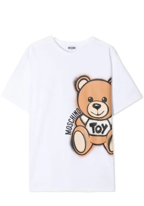 T-SHIRT WITH BEAR PRINT MOSCHINO KIDS | T-shirt | HQM02X LBA1810101