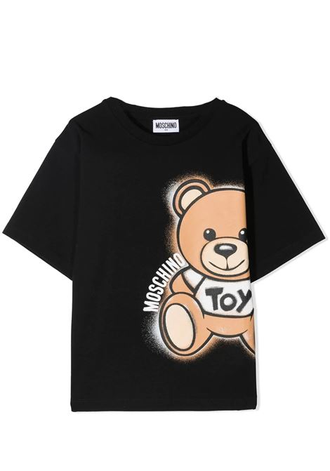 T-SHIRT WITH BEAR PRINT MOSCHINO KIDS | T-shirt | HQM02X LBA18T60100