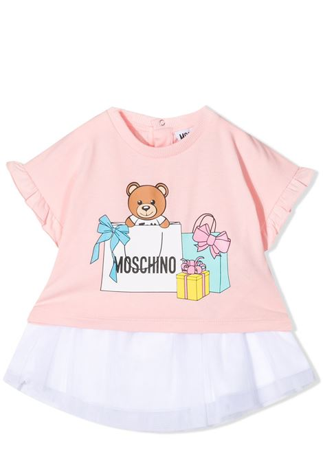 SET TOP AND SKIRT WITH PRINT MOSCHINO KIDS | Suits | MDG00A LBA0050209