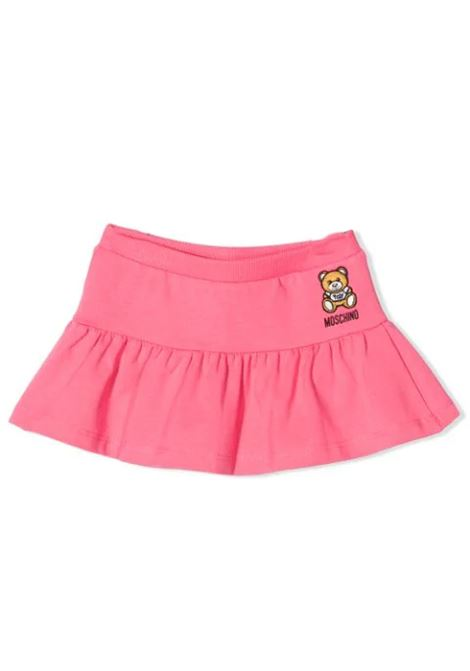 SKIRT WITH PRINT AND EMBROIDERY  MOSCHINO KIDS | Skirt | MDJ00Y LBA1051108