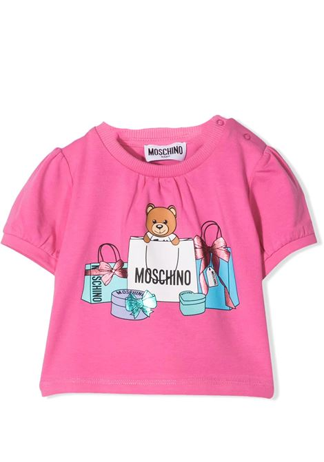 T-SHIRT WITH TEDDY PRINT  MOSCHINO KIDS | T-shirt | MDM02T LBA0050533