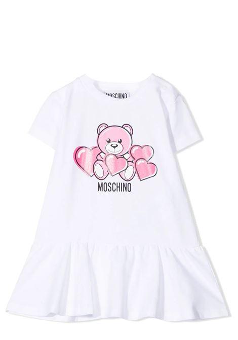 FLARED DRESS WITH PRINT MOSCHINO KIDS | Dress | MDV091 LBA0010101