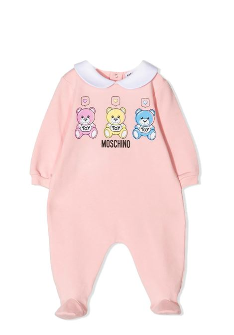TEDDY BEAR PRINT JUMPSUIT  MOSCHINO KIDS | Newborn jumpsuits | MNT010 LDA0050209
