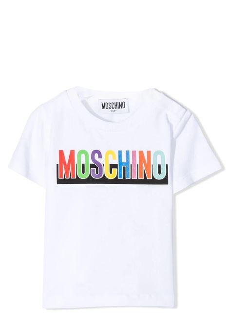 T-SHIRT CON STAMPA MOSCHINO KIDS | T-shirt | MUM02G LBA2010101