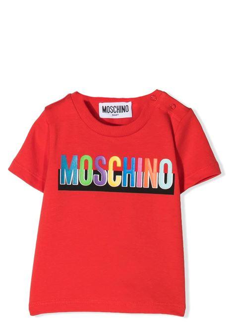 T-SHIRT CON STAMPA MOSCHINO KIDS | T-shirt | MUM02G LBA2050109