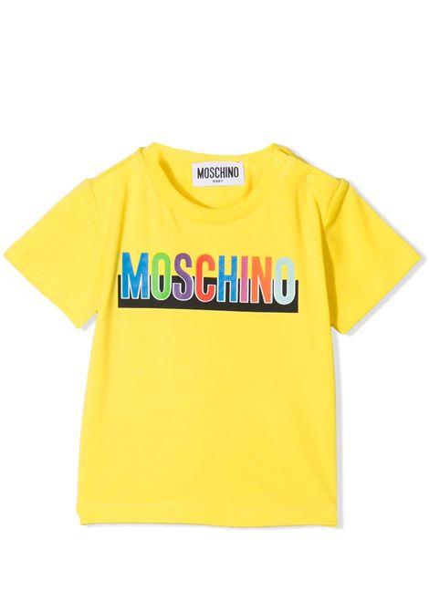 T-SHIRT CON STAMPA MOSCHINO KIDS | T-shirt | MUM02G LBA2050162
