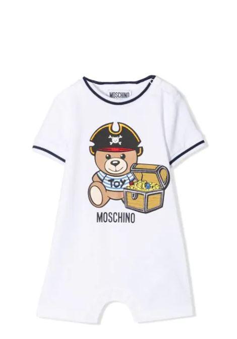 JUMPSUIT WITH TEDDY PRINT MOSCHINO KIDS | Newborn jumpsuits | MUT023 LBA0810101