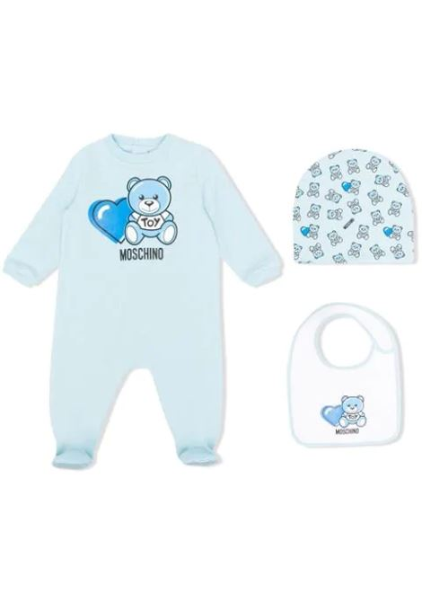 SUIT SET WITH PRINT MOSCHINO KIDS | Newborn jumpsuits | MUY03C LDA0040304