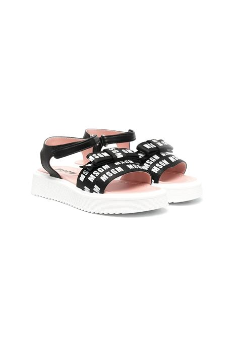 SANDALS WITH PRINT AND BOW MSGM KIDS | Sandals | 672552