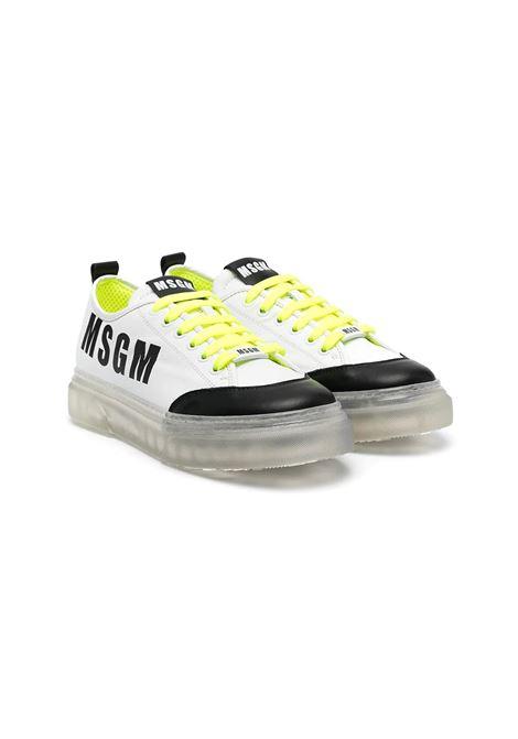SNEAKERS CON SUOLA TRASPARENTE MSGM KIDS | Sneakers | 672962