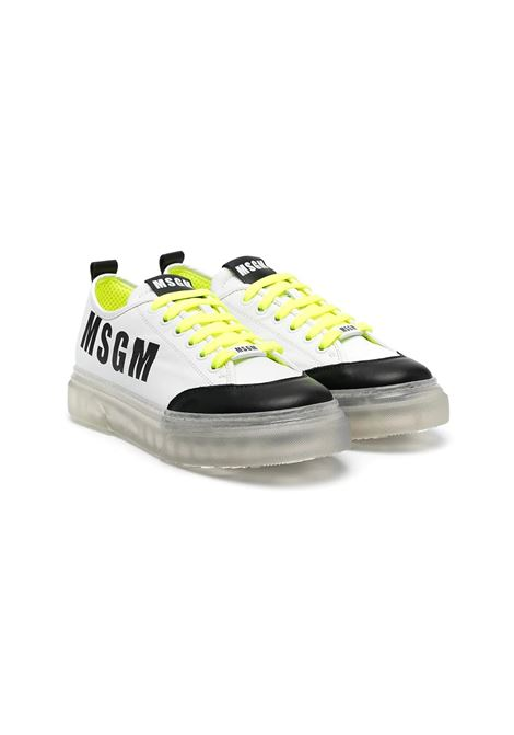 SNEAKERS CON SUOLA TRASPARENTE MSGM KIDS | Sneakers | 67296T2