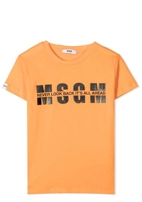 T-SHIRT CON STAMPA MSGM KIDS | T-shirt | MS026817058