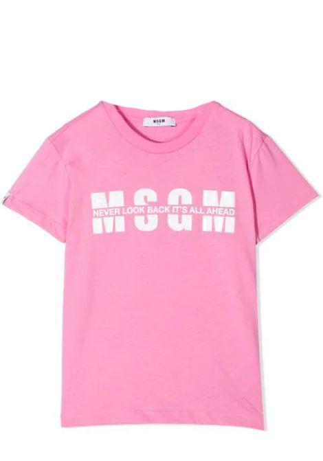 PRINT T-SHIRT  MSGM KIDS   T-shirt   MS026817T042