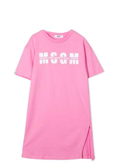 DRESS MODEL T-SHIRT WITH PRINT MSGM KIDS | Dress | MS026825042