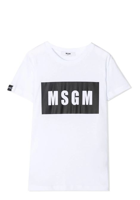 T-SHIRT CON STAMPA MSGM KIDS | T-shirt | MS026829001
