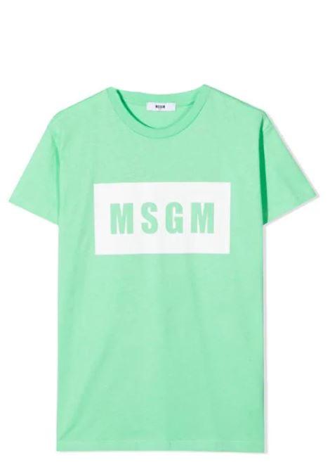 T-SHIRT WITH PRINT MSGM KIDS | T-shirt | MS026829087