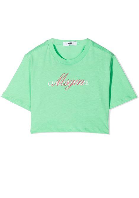 T-SHIRT CON STAMPA MSGM KIDS | T-shirt | MS026836T087