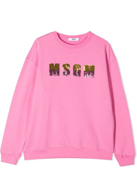 SEQUIN-EMBELLISHED LOGO SWEATSHIRT  MSGM KIDS | Sweatshirts | MS026867042