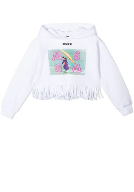 LOGO PRINT SWEATSHIRT MSGM KIDS | Sweatshirts | MS026891T001