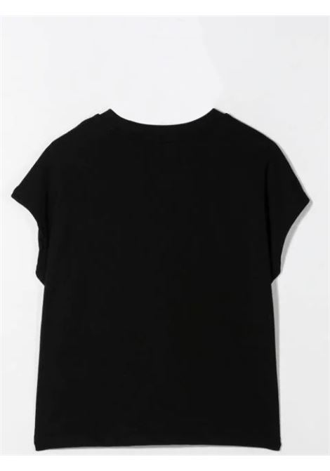 T-SHIRT WITH SEQUIN LOGO  MSGM KIDS | MS026894110