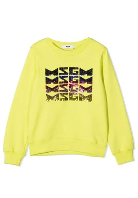 SEQUIN EMBELLISHED LOGO JUMPER MSGM KIDS | Sweatshirts | MS027081T086