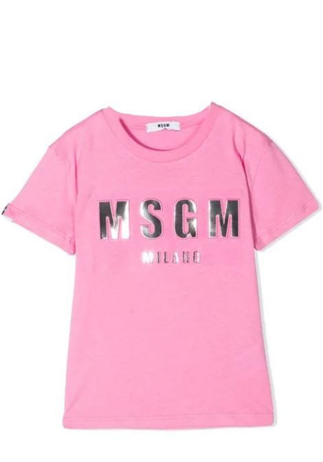 T-SHIRT CON STAMPA MSGM KIDS | T-shirt | MS027389T042
