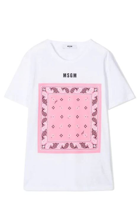 GRAPHIC PRINT COTTON T-SHIRT MSGM KIDS | T-shirt | MS027580001/18