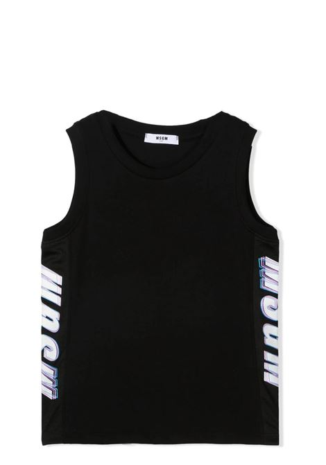 TANK TOP WITH SIDE PRINT MSGM KIDS | Tank tops | MS027630T110