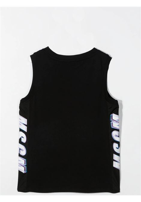 TANK TOP WITH SIDE PRINT MSGM KIDS | MS027630T110