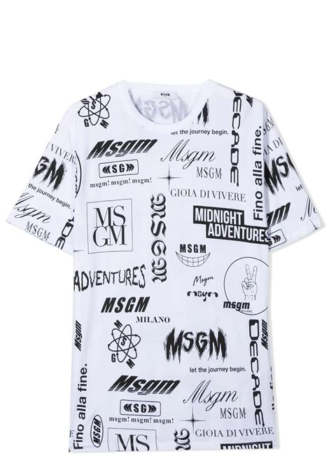 T-SHIRT CON STAMPA MSGM KIDS | T-shirt | MS027635T001