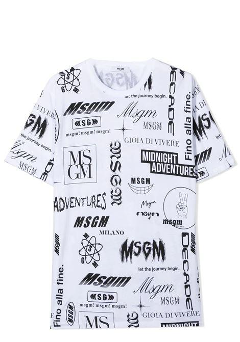PRINT T-SHIRT  MSGM KIDS | T-shirt | MS027635T001