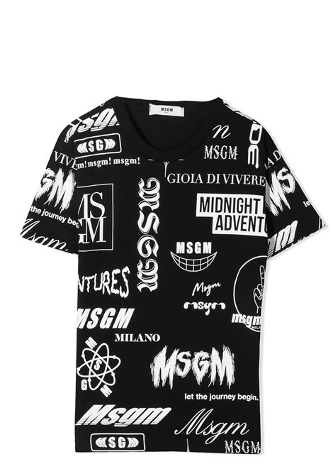 T-SHIRT CON STAMPA MSGM KIDS | T-shirt | MS027635T110