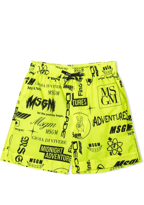 SWIMSUIT WITH PRINT MSGM KIDS | Swimsuits | MS027661023