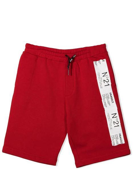LOGO-TAPE TRACK SHORTS N°21 KIDS | Bermuda | N21P76M-N21013-N01550N400