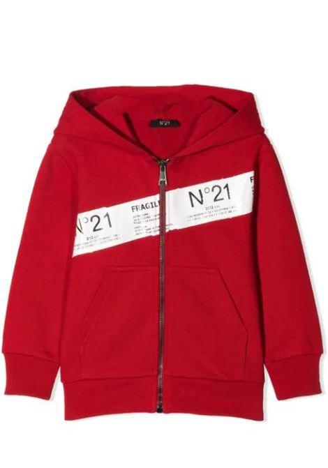 ZIPPED HOODIE N°21 KIDS | Sweatshirts | N21S79M-N21021-N0155T0M400