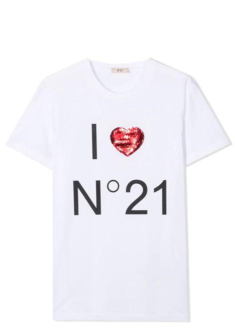 SEQUIN HEART T-SHIRT N°21 KIDS | T-shirt | N21T73F-N21093-N0153T0N100