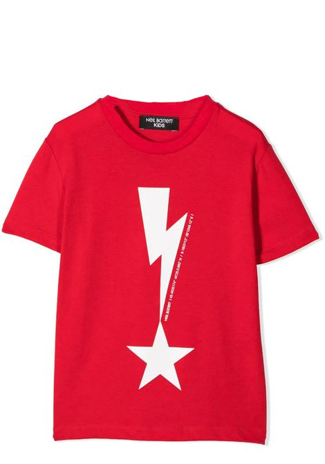 T-SHIRT CON STAMPA NEIL BARRETT KIDS | T-shirt | 027867T040